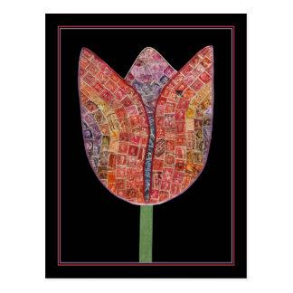 Tulipa dos selos postais - cartão