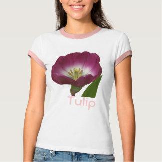 Tulipa roxa da ameixa tshirts