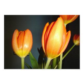 tulipas alaranjadas convite personalizado