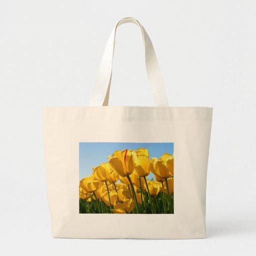 Tulipas amarelas bolsas de lona