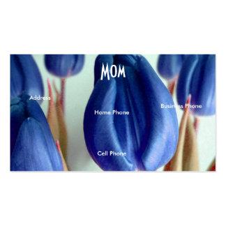 Tulipas azuis da mamã cartão de visita