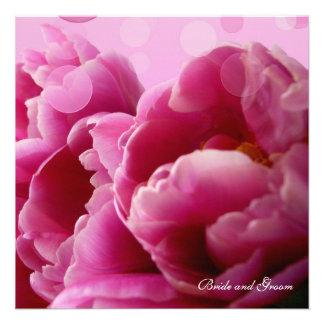 Tulipas cor-de-rosa da flor que Wedding o convite