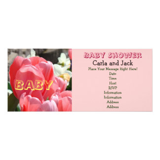 Tulipas cor-de-rosa do primavera dos convites de S
