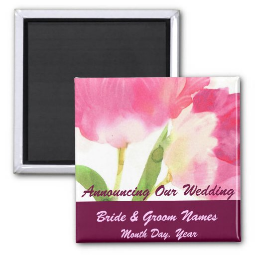 Tulipas da aguarela que Wedding a imã salve a data