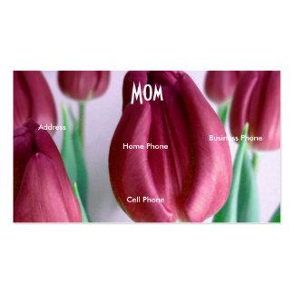 Tulipas de Rosey da mamã Cartão De Visita