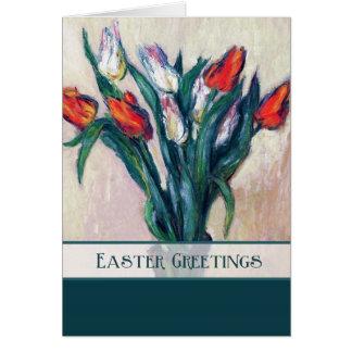 Tulipas do primavera. Cartões customizáveis da