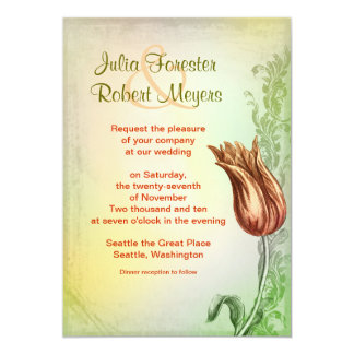 tulipas do vintage que wedding o convite