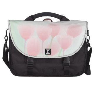 Tulipas Pastel cor-de-rosa macias que Wedding Bolsa Para Computador Portátil