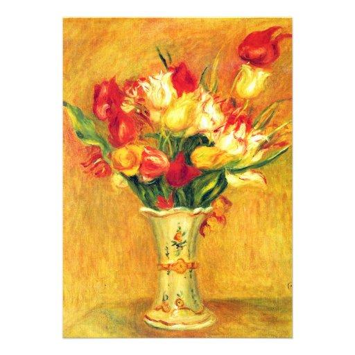 Tulipas pelo chá de panela da flor da arte do convite personalizados
