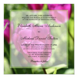 Tulipas roxas que Wedding convites