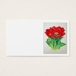 Tulipas vermelhas cartão de visitas