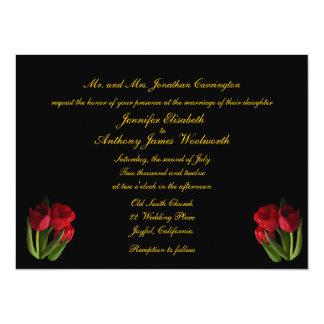Tulipas vermelhas que Wedding Convite 13.97 X 19.05cm