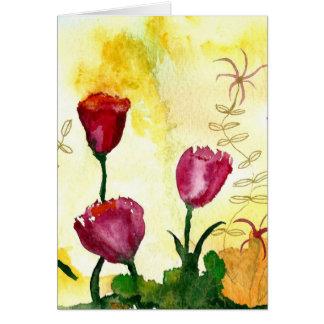 Tulips. Cartão Comemorativo