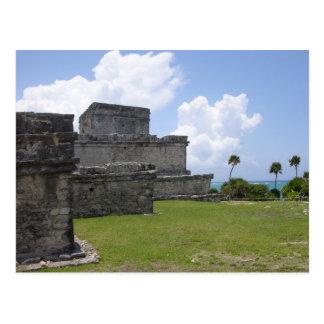 Tulum, ruínas maias, México Cartão Postal