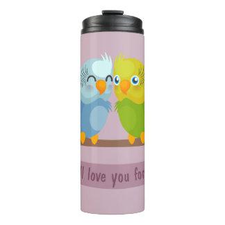 Tumbler bonito dos pássaros do amor