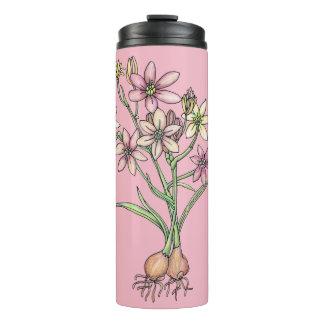 Tumbler de florescência dos bulbos nos rosa