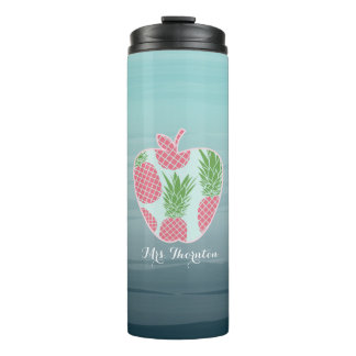 Tumbler do professor - Ombre Apple imprime o