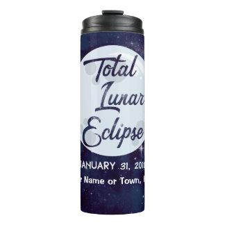 Tumbler total do viagem do eclipse 2018 lunar