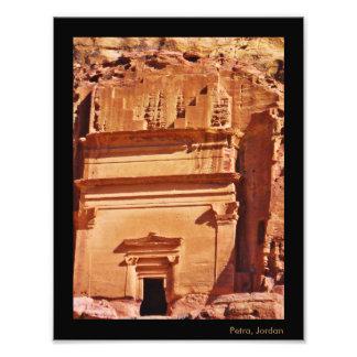 Túmulo de PETRA Nabataean Impressão De Foto
