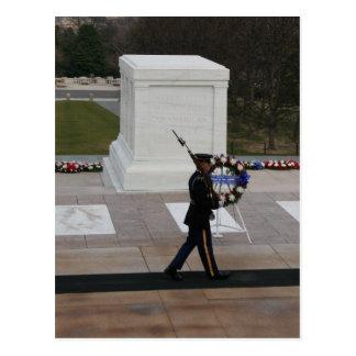 Túmulo do cartão do soldado desconhecido