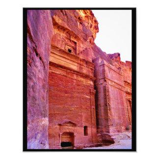 Túmulos de PETRA Impressão De Foto