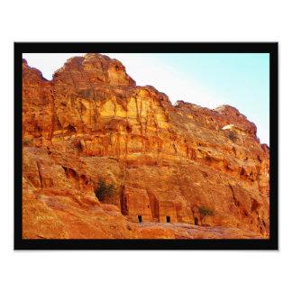 Túmulos Windblown em PETRA Impressão De Foto