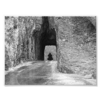 Túnel da estrada das agulhas impressão de foto