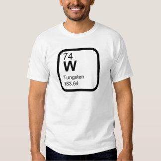 Tungstênio - design da ciência da mesa periódica t-shirts