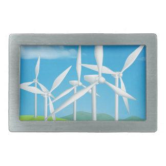 Turbinas do poder das energias eólicas que geram a