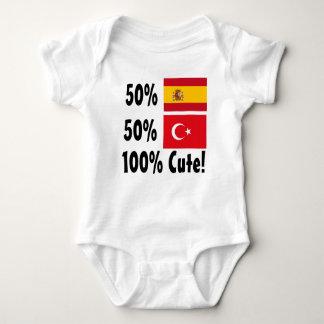 Turco 100% do espanhol 50% de 50% bonito body para bebê