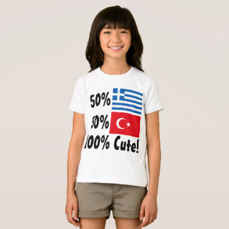 Turco 100% do grego 50% de 50% bonito camiseta