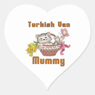 Turco Van Gato Mamã Adesivo Coração