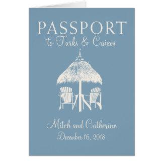 Turcos & convite do casamento do passaporte de