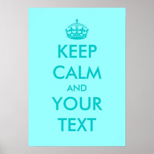 Turguoise mantem o texto customizável calmo dos pôster