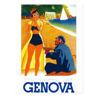 Turismo de Genebra Italia do vintage Cartão Postal