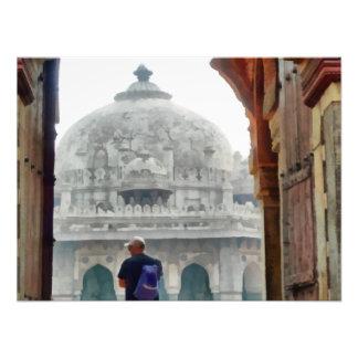 Turista na entrada impressão de foto