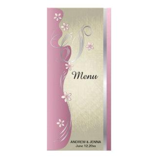 Turmalina cor-de-rosa Curvy elegante do design | 10.16 X 22.86cm Panfleto