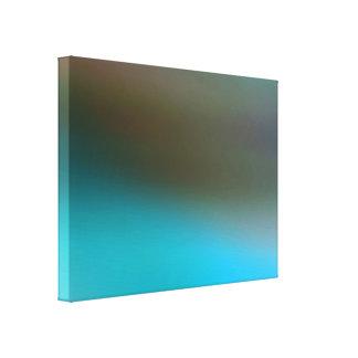 Turquesa abstrato moderno de Brown azul e de cinza Impressão Em Tela Canvas