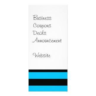 Turquesa azul da cerceta e teste padrão branco das planfeto informativo colorido