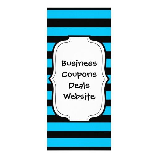 Turquesa azul da cerceta e teste padrão branco das modelo de panfleto informativo