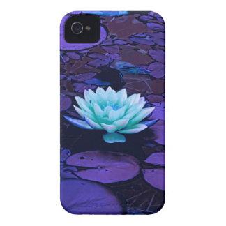 Turquesa azul roxa mágica da flor de Lotus floral Capa Para iPhone 4 Case-Mate