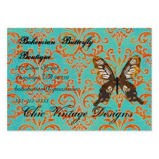 Turquesa boémia do boutique da borboleta & Dama al Cartao De Visita