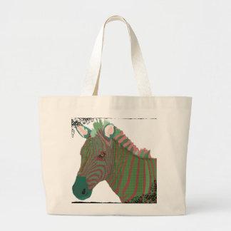 Turquesa do vintage & saco cor-de-rosa da arte da  bolsas para compras