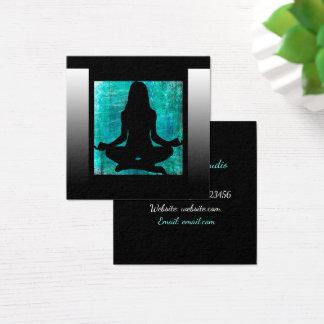 Turquesa e cartões de visitas pretos da ioga da