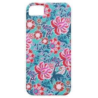 Turquesa e iphone floral vermelho da capa de capas para iPhone 5