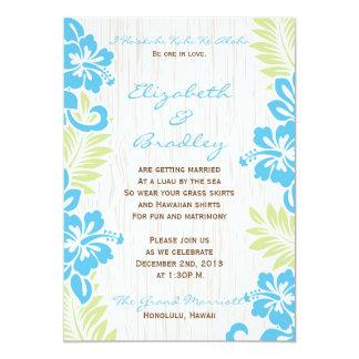 Turquesa havaiana tropical do convite do casamento