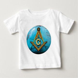 Turquesa maçónica do quadrado & do compasso t-shirt