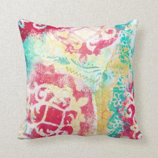 Turquesa moderna & dos meios mistos escarlate do c travesseiros de decoração