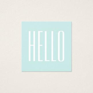 Turquesa Pastel/cartão de visita minimalista azul Cartão De Visitas Quadrado