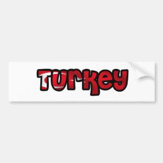 Turquia Adesivo Para Carro